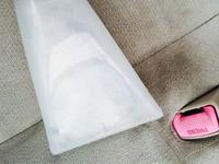 車内まるごと洗浄・消臭サービス シート汚れ洗浄中2 鹿児島市ヒューマンライズ