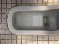 高校・中学校・小学校併設 全トイレ便器 尿石除去消臭サービス 大便器和式尿石除去完了① 鹿児島市西別府町 方面